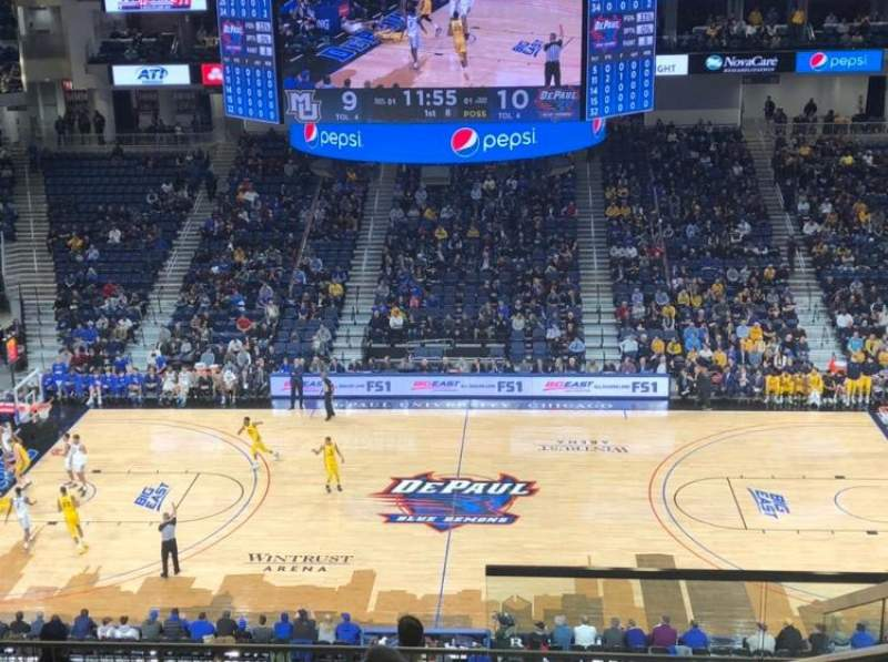 Seating view for Wintrust Arena Section 225 Row K Seat 4