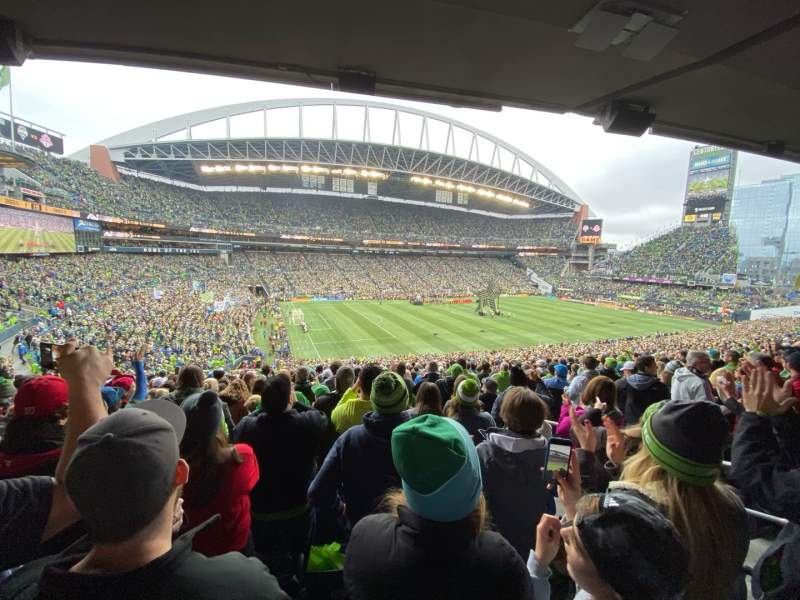 Seating view for CenturyLink Field Section 214 Row X Seat 6