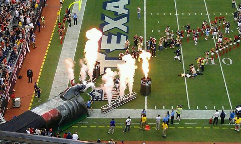 Seating view for NRG Stadium Section 612 Row B Seat 11
