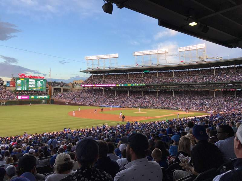Seating view for Wrigley Field Section 206 Row 7 Seat 6