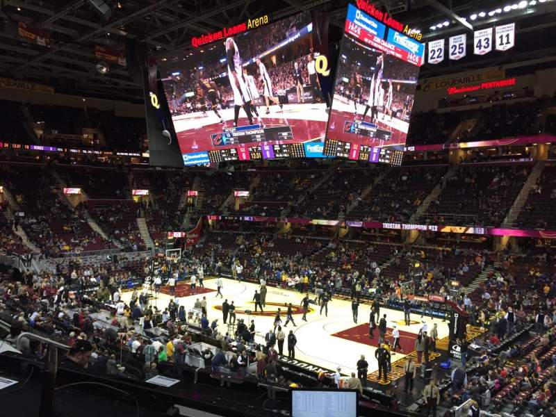 Seating view for Quicken Loans Arena Section 128 Row 20 Seat 13