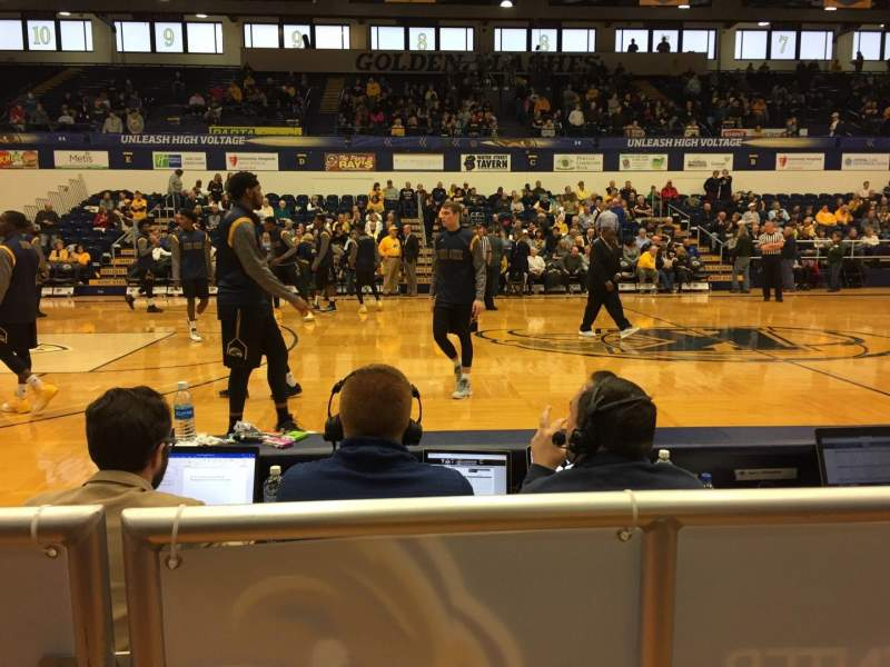 Seating view for Memorial Athletic and Convocation Center Section J Row C Seat 41