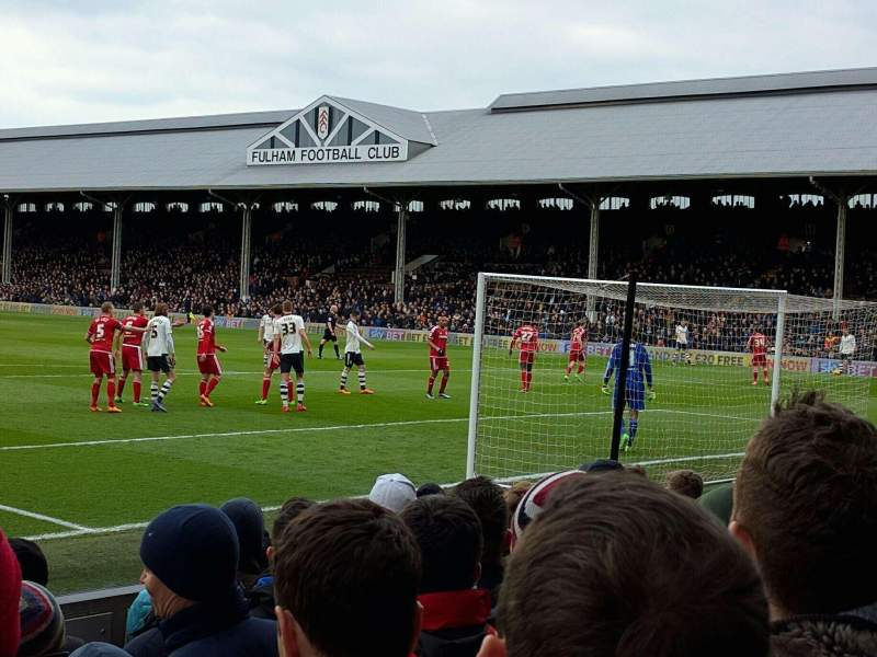 Seating view for Craven Cottage Section P5 Row I Seat 110