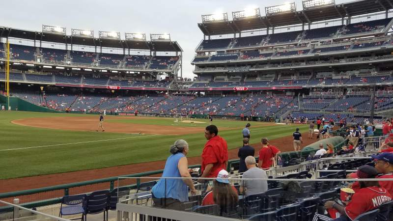 Seating view for Nationals Park Section 112 Row J Seat 14