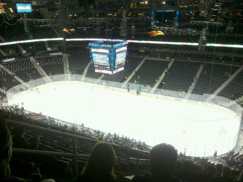 Seating view for Philips Arena Section 307 Row T Seat 20