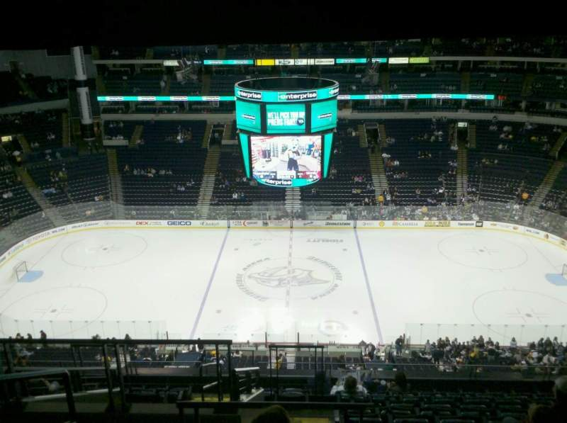 Seating view for Bridgestone Arena Section 326 Row M Seat 19