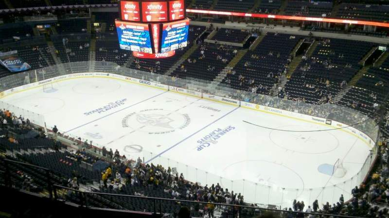 Seating view for Bridgestone Arena Section 329 Row G Seat 6