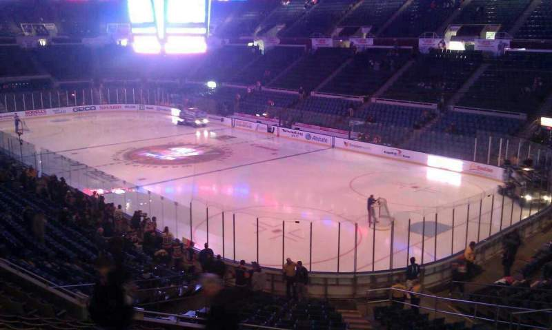 Seating view for Nassau Veterans Memorial Coliseum Section 334 Row A Seat 1