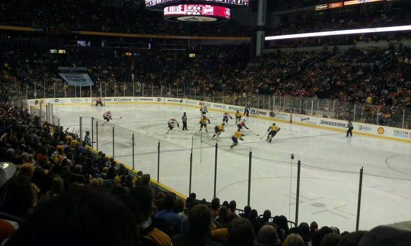 Seating view for Bridgestone Arena Section 118 Row C Seat 1