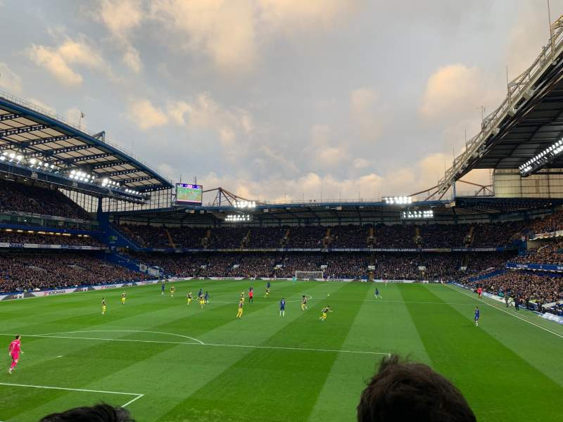 Seating view for Stamford Bridge Section Shed End Lower 3 Row 2  Seat 103