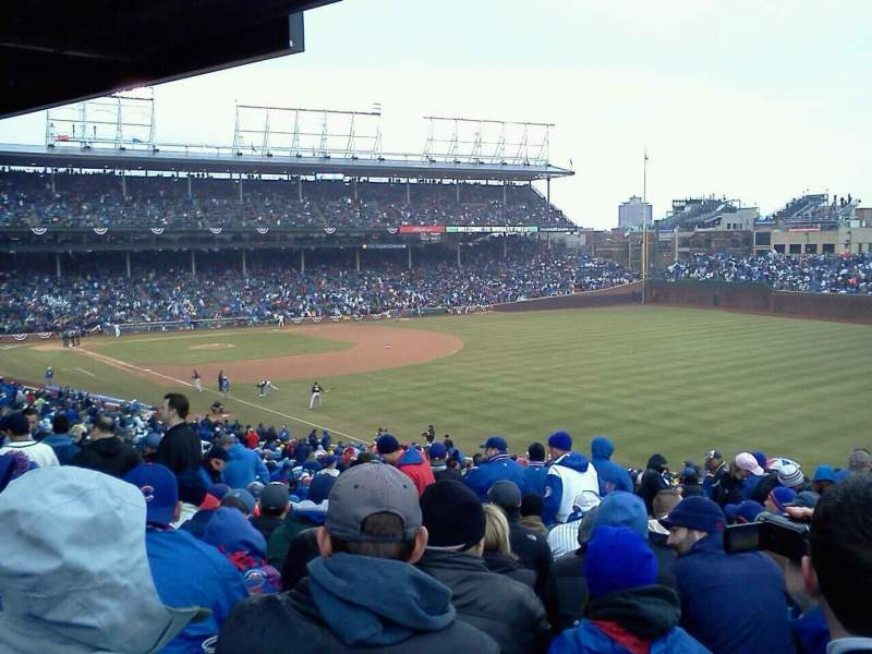 Seating view for Wrigley Field Section 240 Row 23 Seat 1