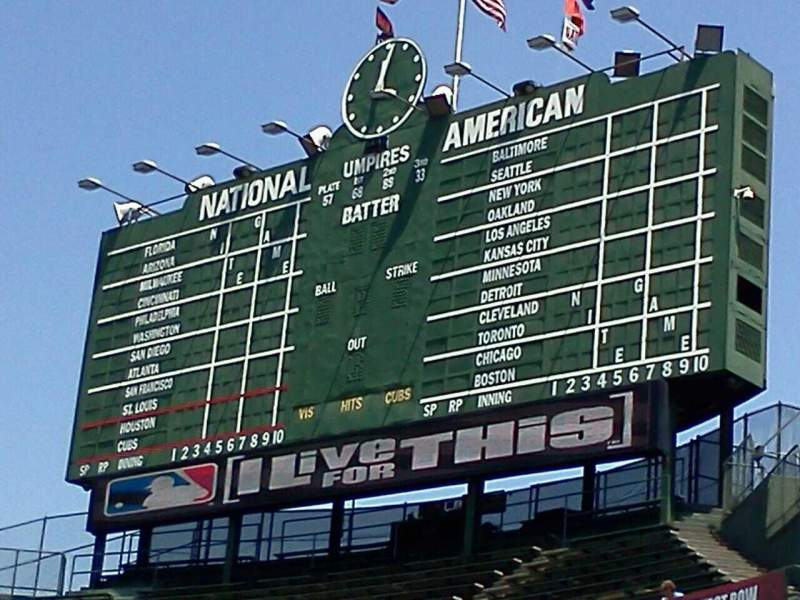Seating view for Wrigley Field Section Bleachers Row 1 Seat 4