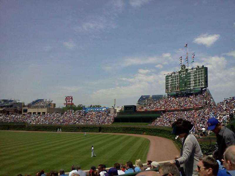 Seating view for Wrigley Field Section 242 Row 3 Seat 112