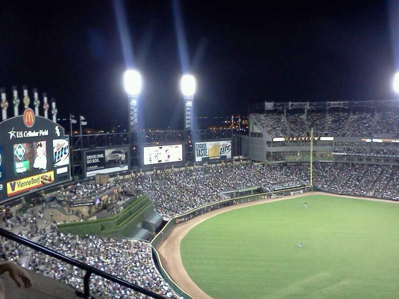Seating view for Guaranteed Rate Field Section 558 Row 18 Seat 5