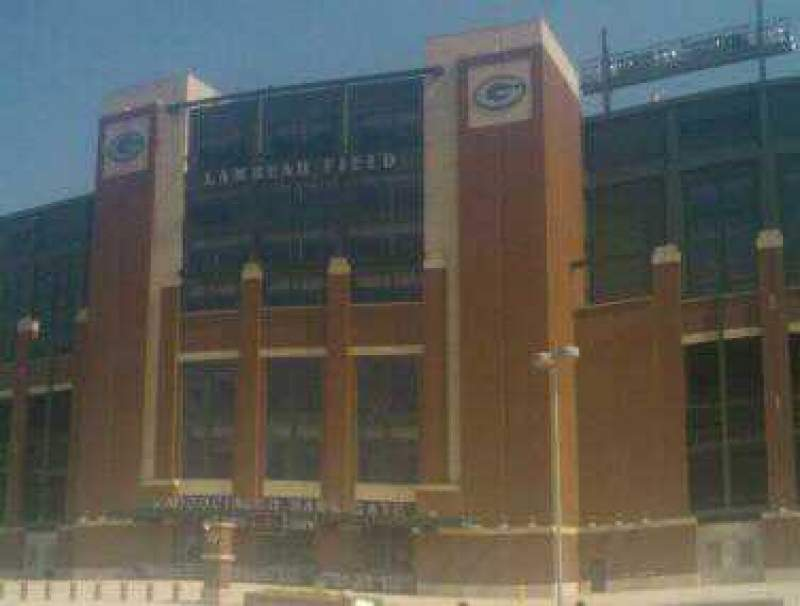 Seating view for Lambeau Field Section Associated Bank Gate