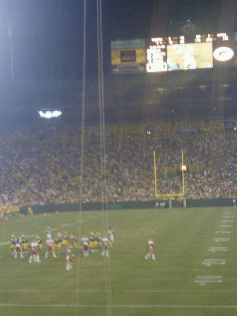 Seating view for Lambeau Field Section 133 Row 28 Seat 24