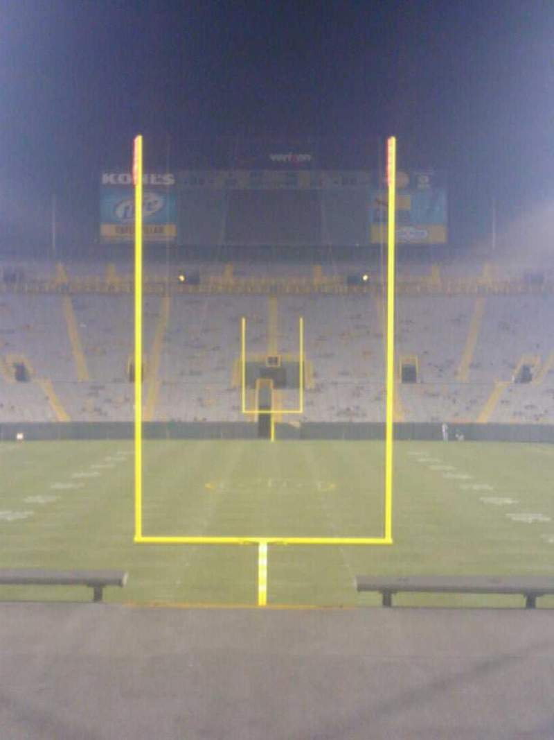 Seating view for Lambeau Field Section 100 Row 33 Seat 12