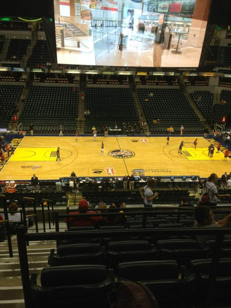 Seating view for Bankers Life Fieldhouse Section 105 Row 10 Seat 16