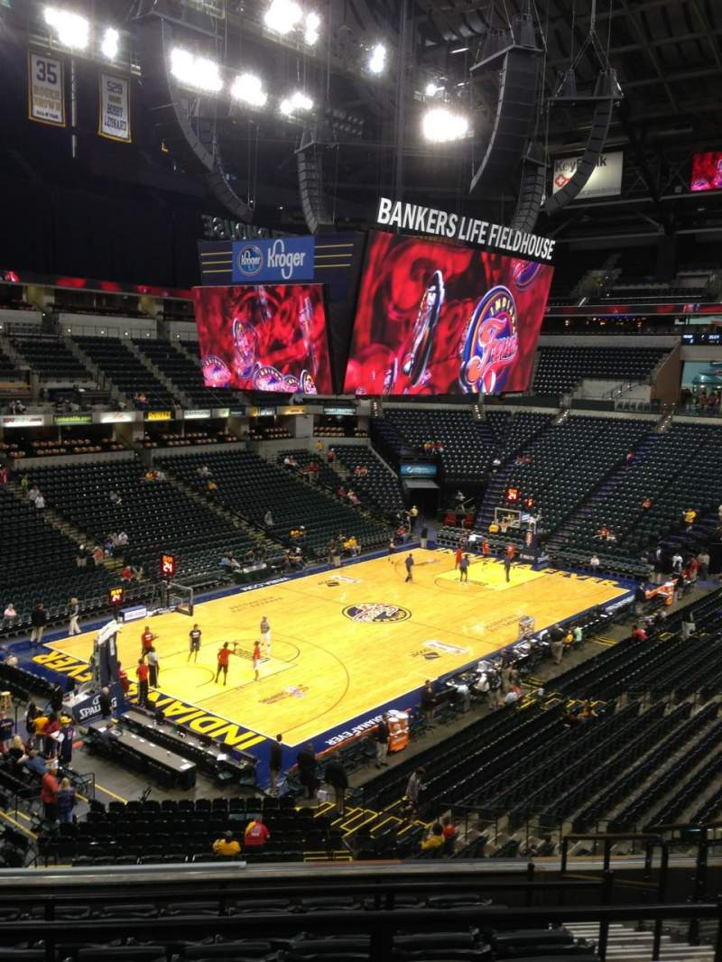 Seating view for Bankers Life Fieldhouse Section 108 Row 9 Seat 4