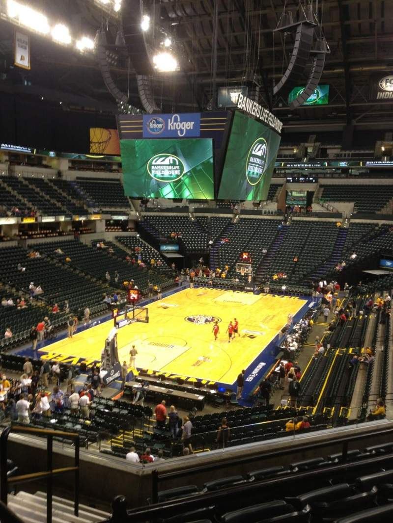 Seating view for Bankers Life Fieldhouse Section 109 Row 9 Seat 11