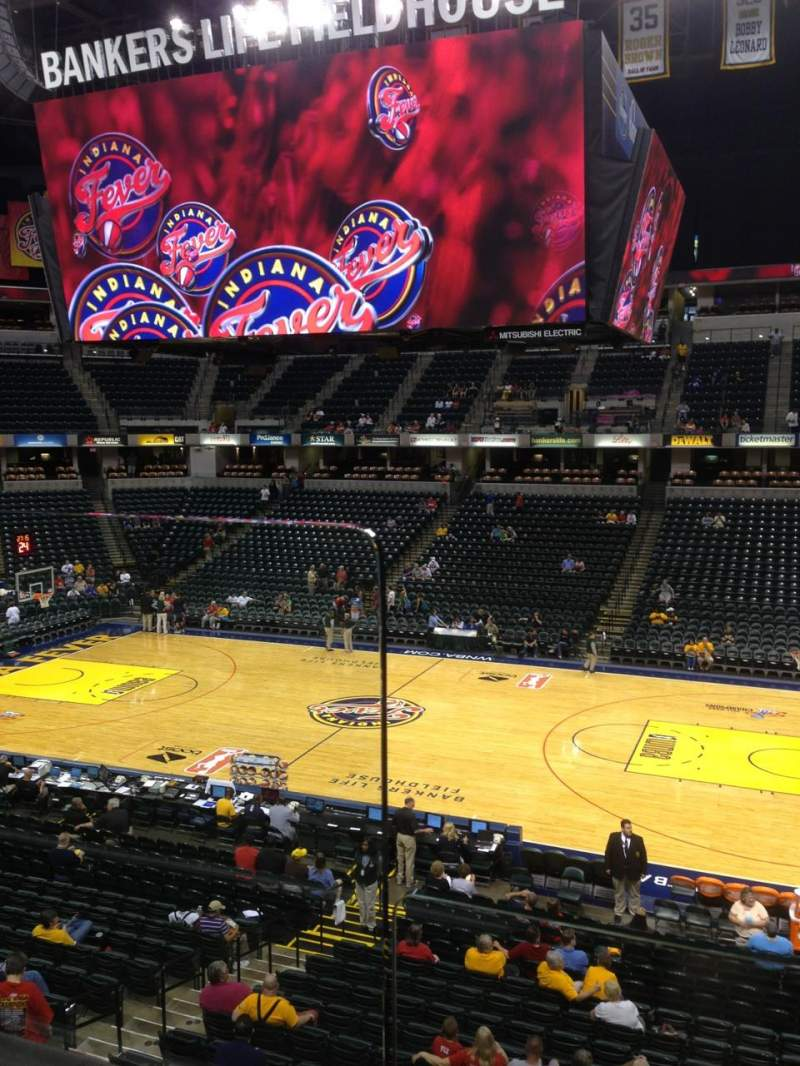 Seating view for Bankers Life Fieldhouse Section 103 Row 1 Seat 9