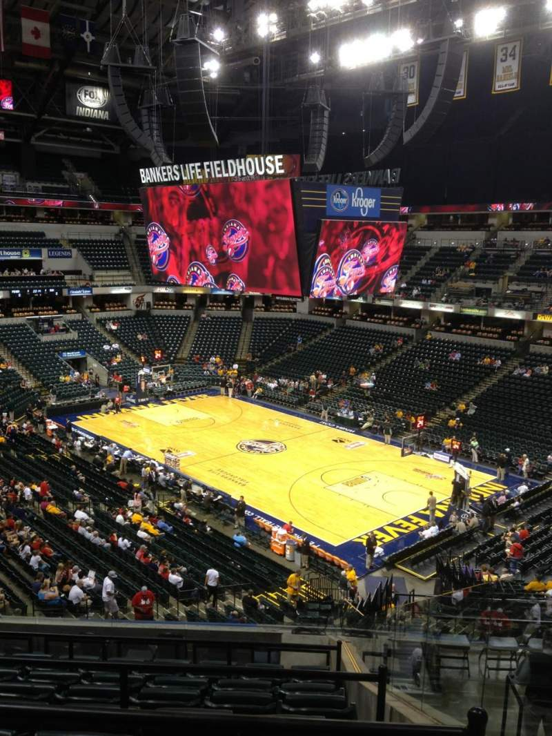 Seating view for Bankers Life Fieldhouse Section 101 Row 12 Seat 1
