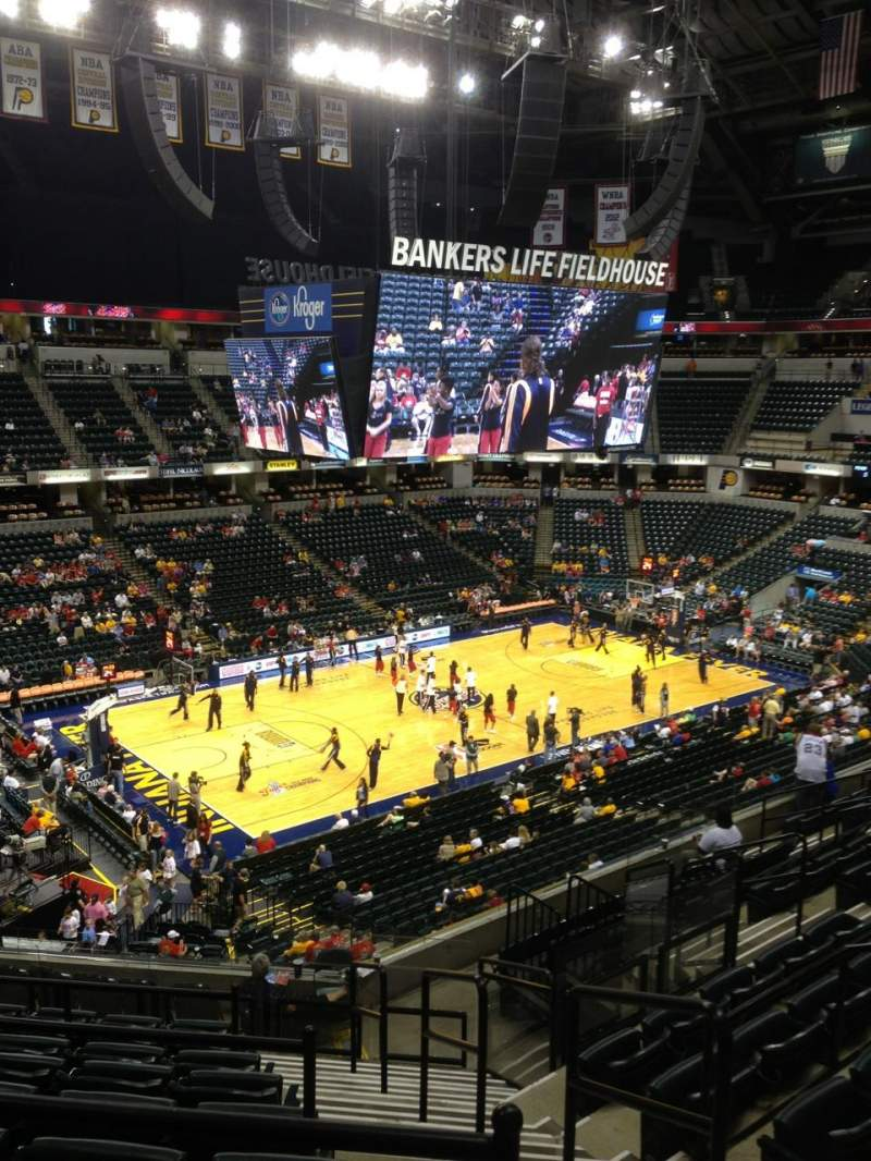 Seating view for Bankers Life Fieldhouse Section 120 Row 12 Seat 12