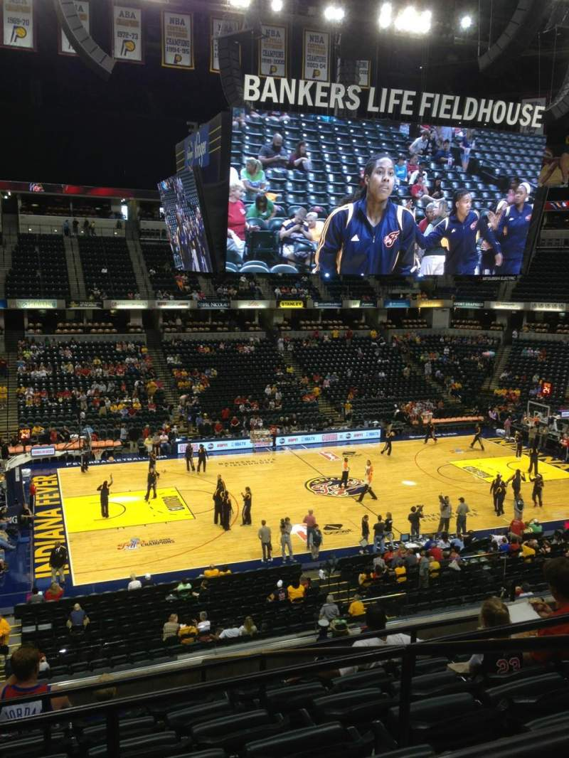 Seating view for Bankers Life Fieldhouse Section 118 Row 7 Seat 15