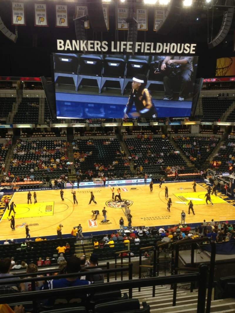 Seating view for Bankers Life Fieldhouse Section 118 Row 10 Seat 2