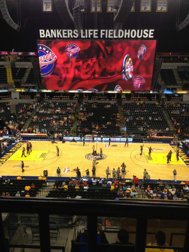 Seating view for Bankers Life Fieldhouse Section 117 Row 11 Seat 8