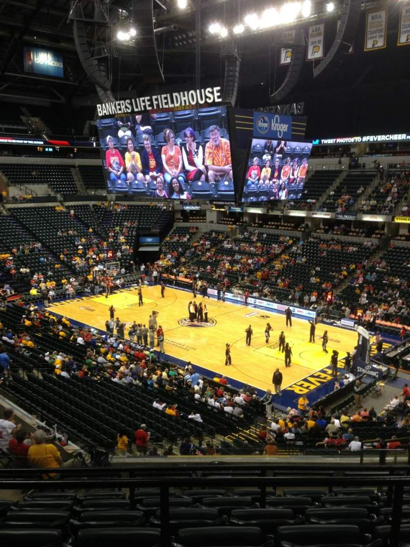 Seating view for Bankers Life Fieldhouse Section 114 Row 10 Seat 8