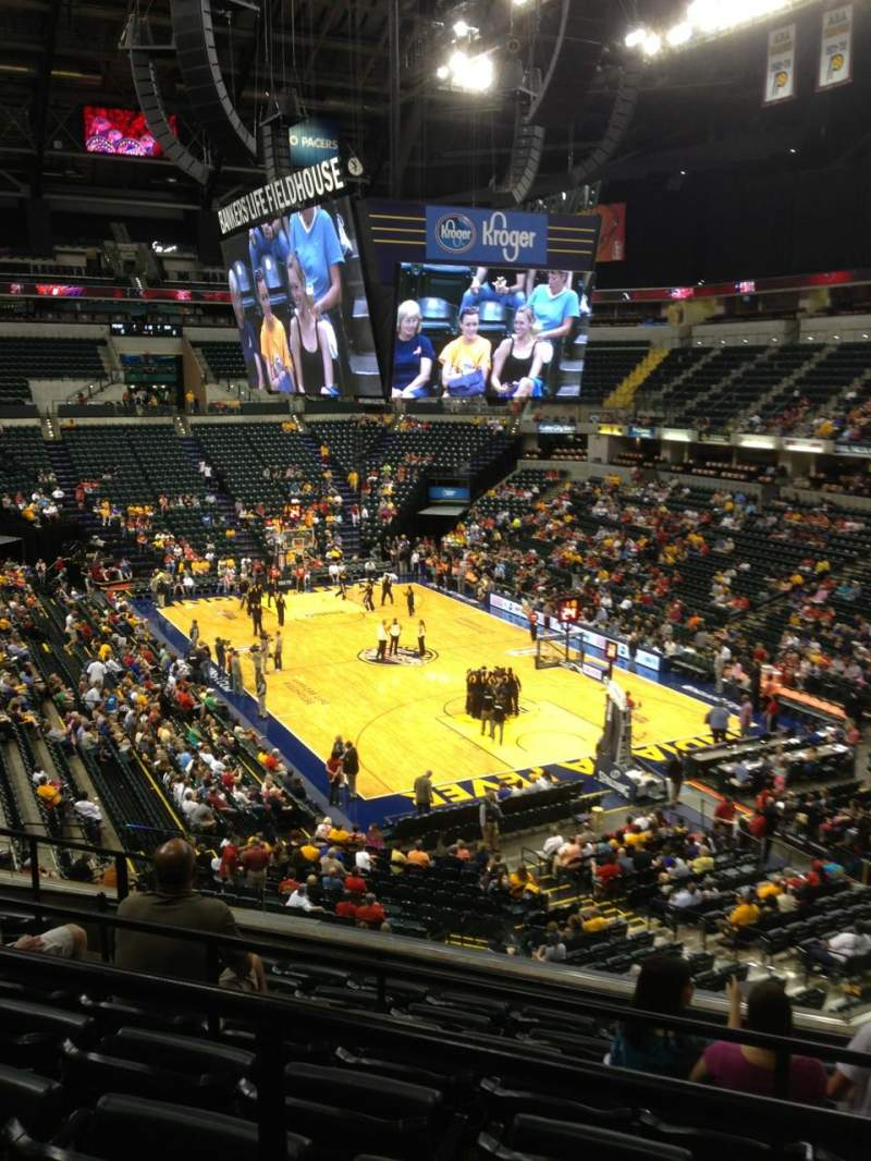 Seating view for Bankers Life Fieldhouse Section 112 Row 8 Seat 8