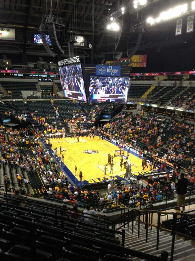 Seating view for Bankers Life Fieldhouse Section 112 Row 12 Seat 1