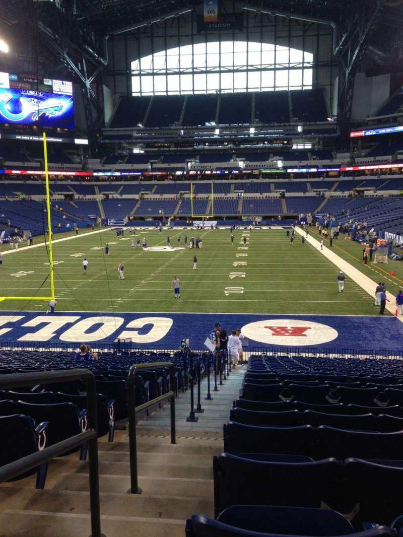 Seating view for Lucas Oil Stadium Section 152 Row 27 Seat 24