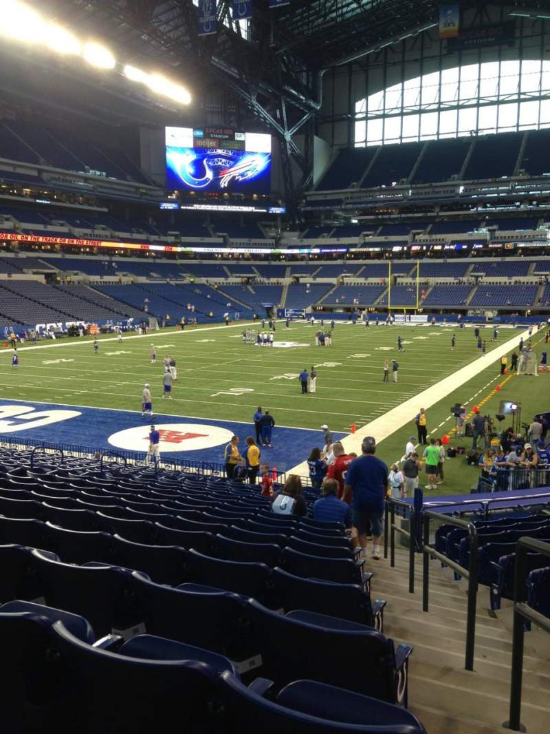 Seating view for Lucas Oil Stadium Section 151 Row 22 Seat 1