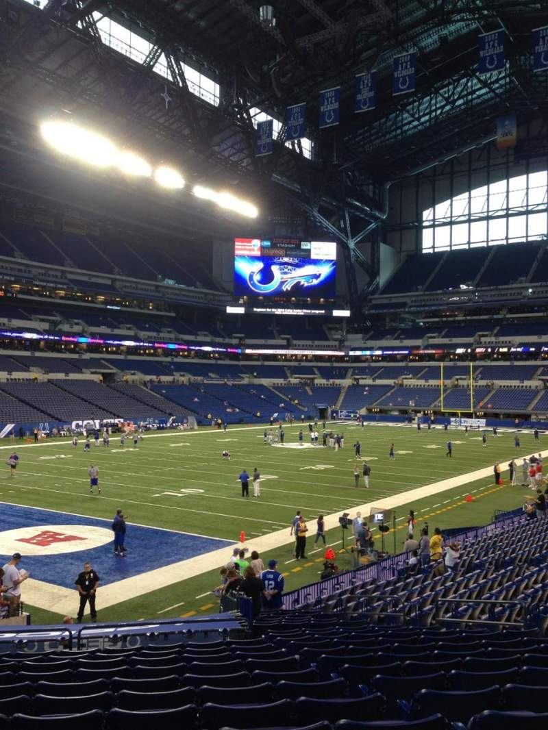 Seating view for Lucas Oil Stadium Section 148 Row 21 Seat 15