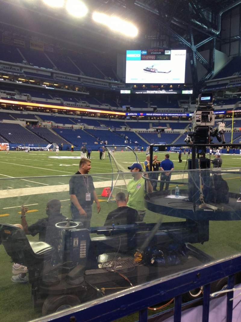 Seating view for Lucas Oil Stadium Section 143 Row 1 Seat 1