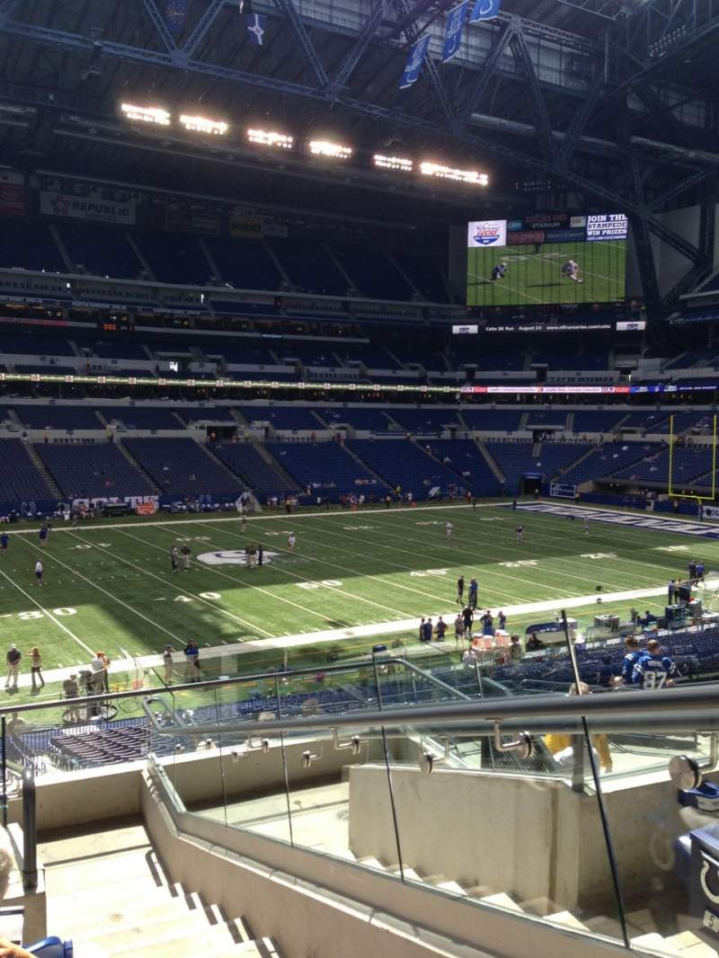 Seating view for Lucas Oil Stadium Section 243 Row 8 Seat 1