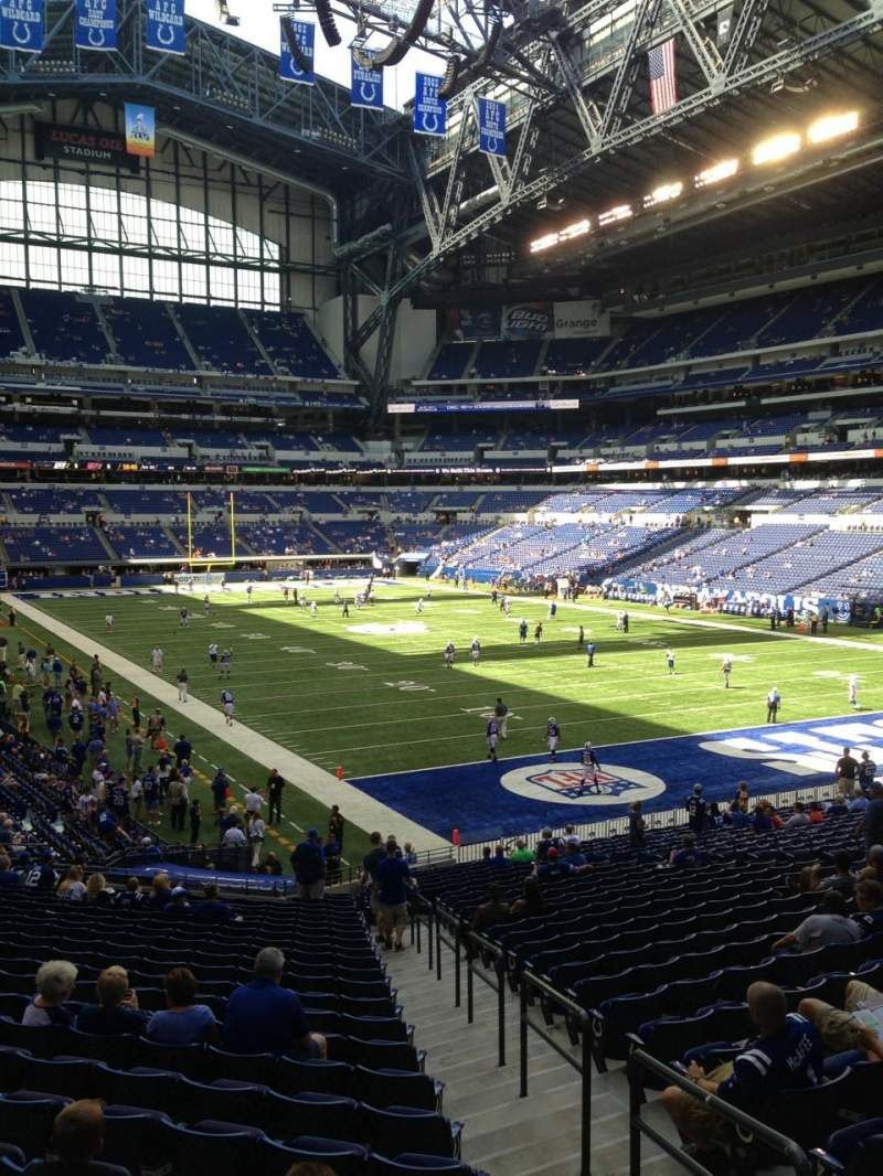 Seating view for Lucas Oil Stadium Section 105 Row 29 Seat 1