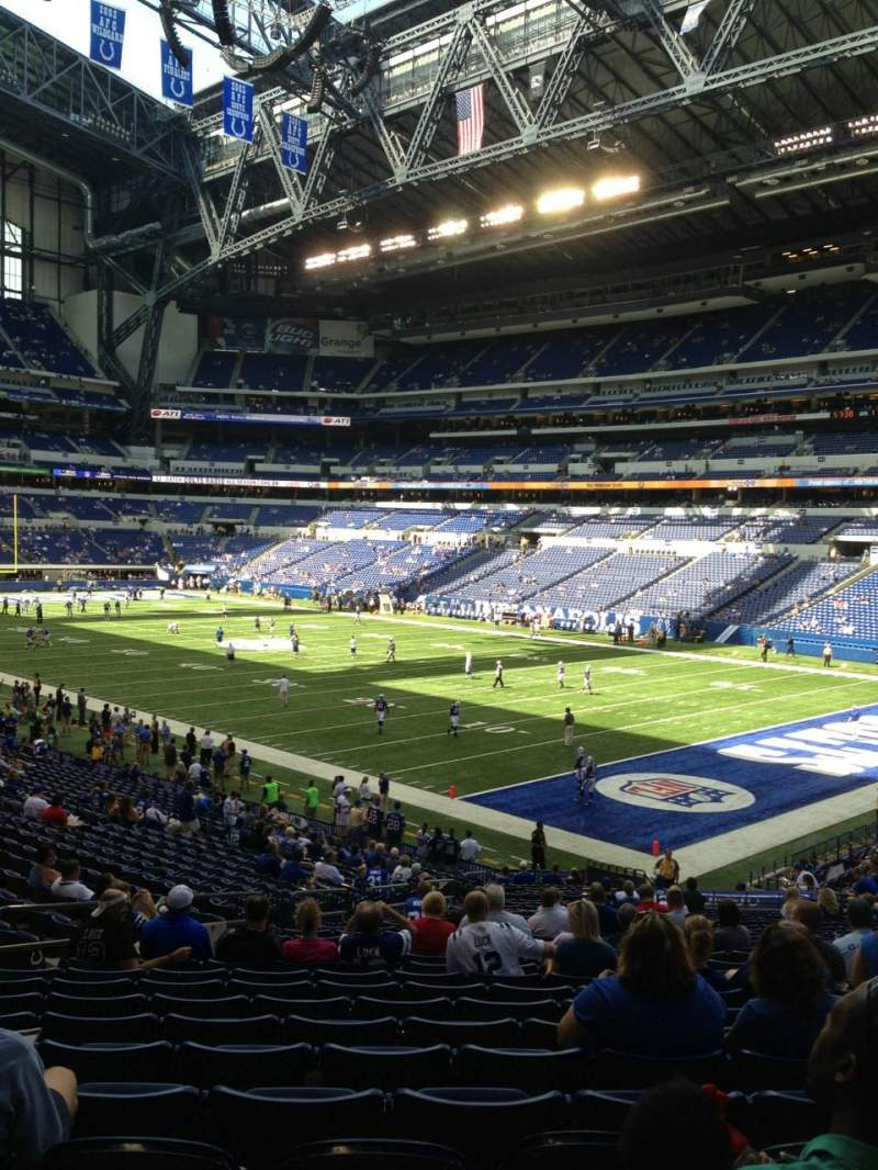 Seating view for Lucas Oil Stadium Section 105 Row 31 Seat 32
