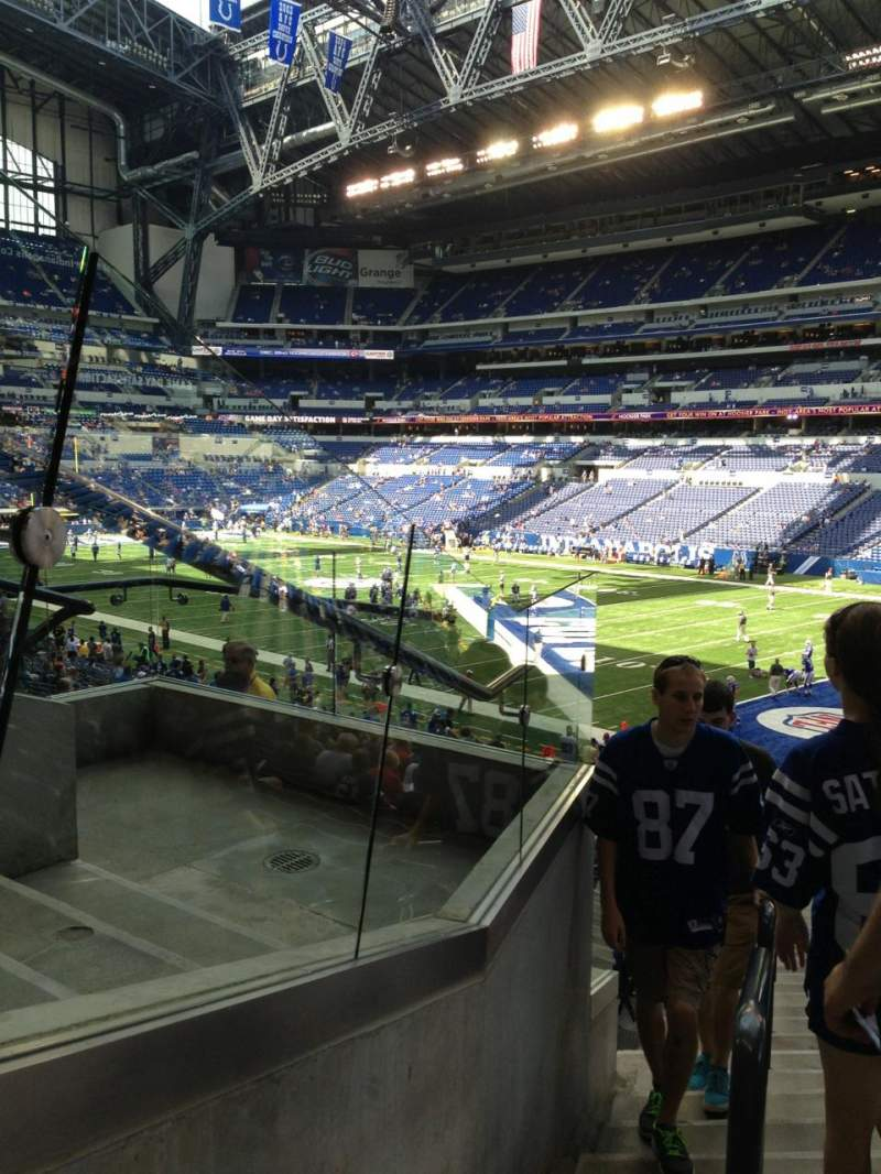 Seating view for Lucas Oil Stadium Section 208 Row 5 Seat 1
