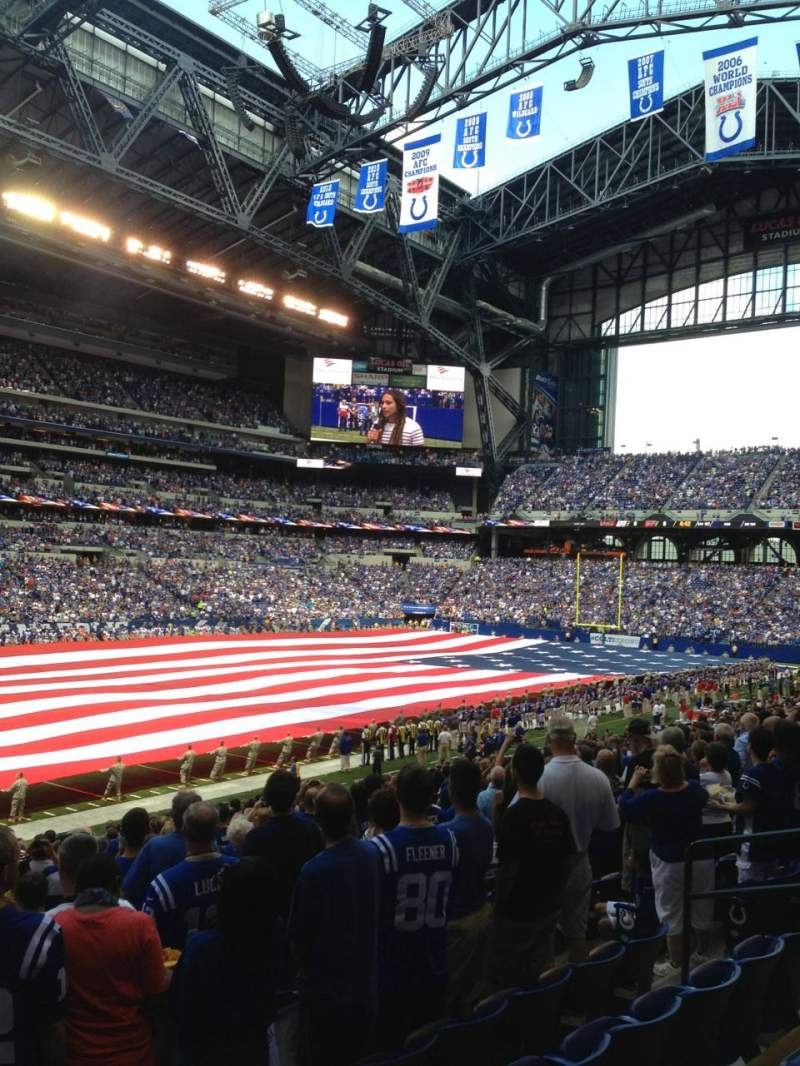 Seating view for Lucas Oil Stadium Section 118 Row 25 Seat 11