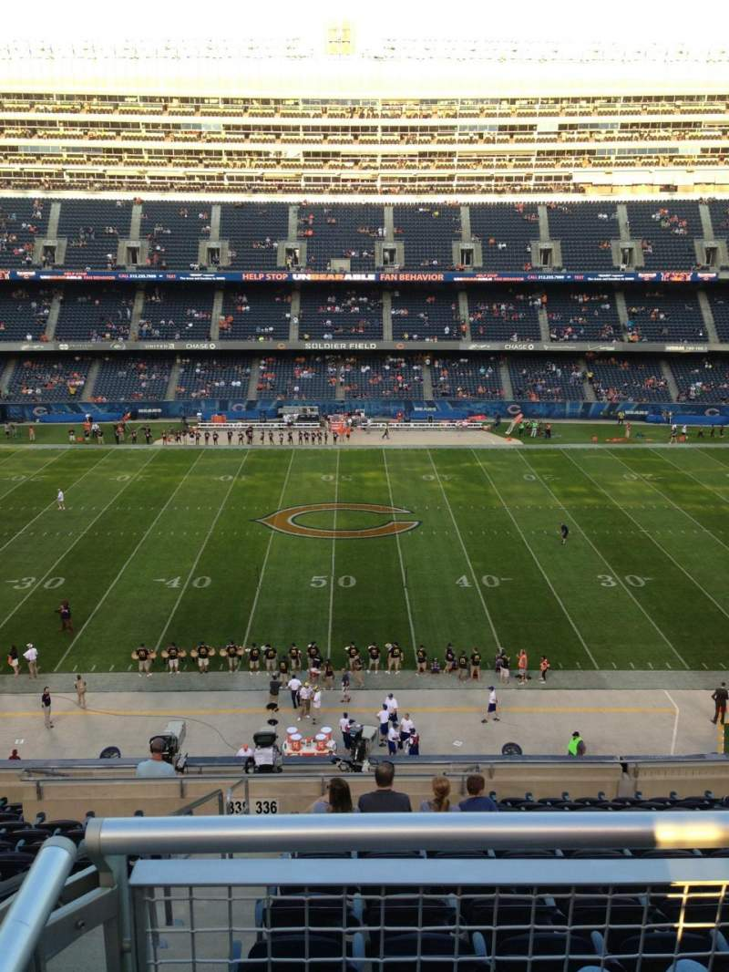 Seating view for Soldier Field Section 336 Row 13 Seat 2