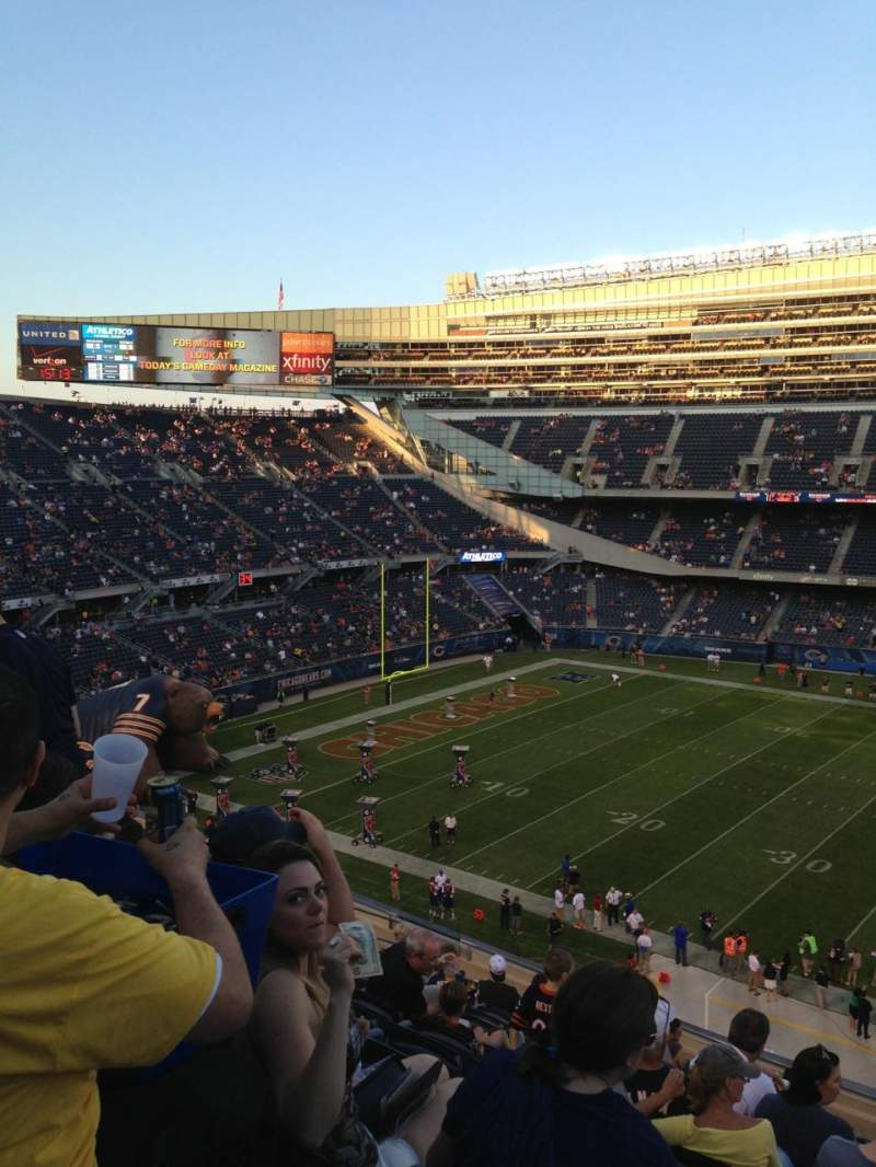 Seating view for Soldier Field Section 338 Row 15 Seat 18