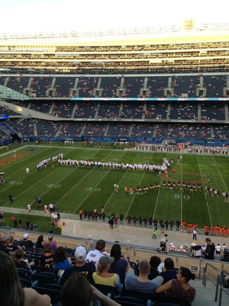 Seating view for Soldier Field Section 338 Row 14 Seat 19