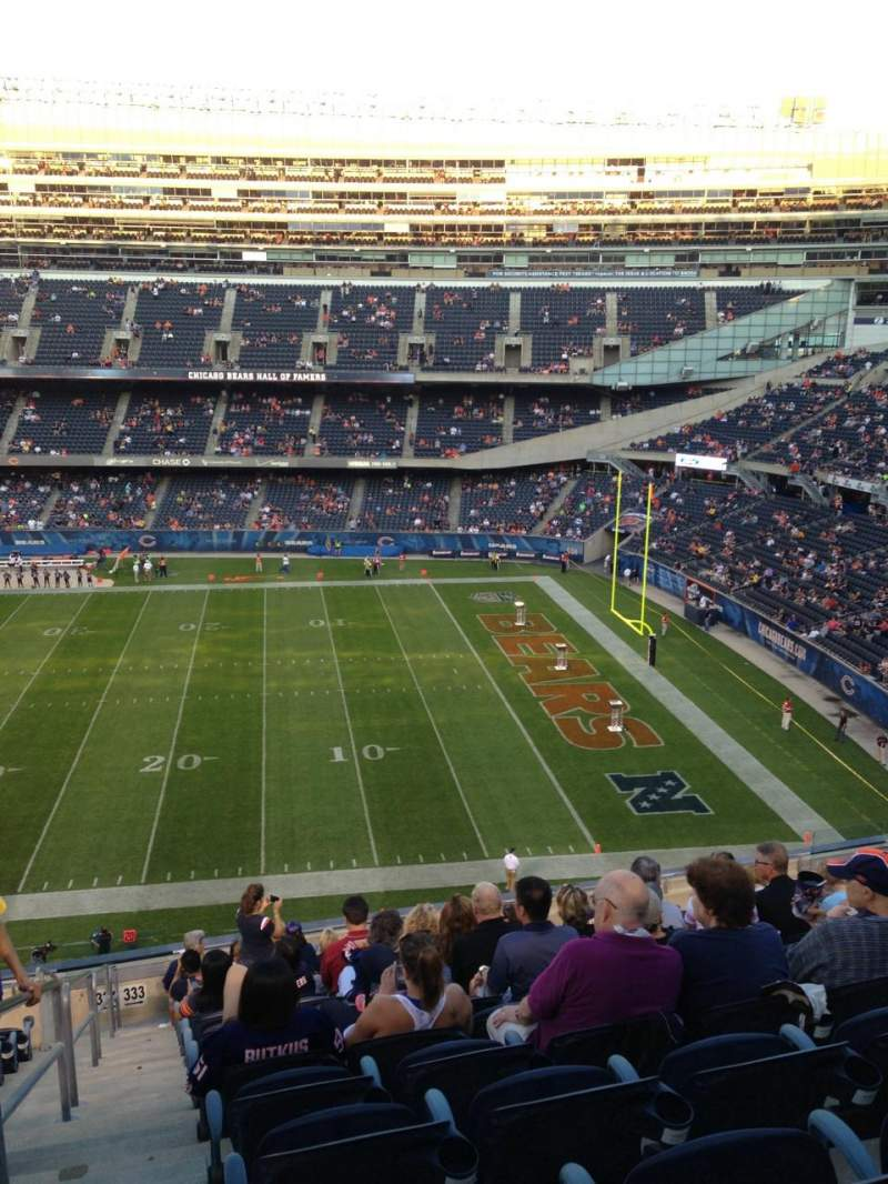 Seating view for Soldier Field Section 333 Row 14 Seat 2