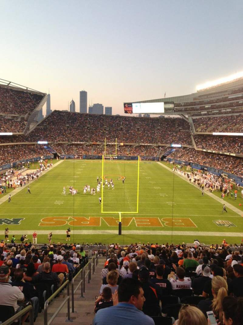 Seating view for Soldier Field Section 222 Row 2 Seat 11