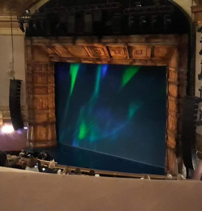 Seating view for St. James Theatre Section Mezzanine R Row N Seat 34