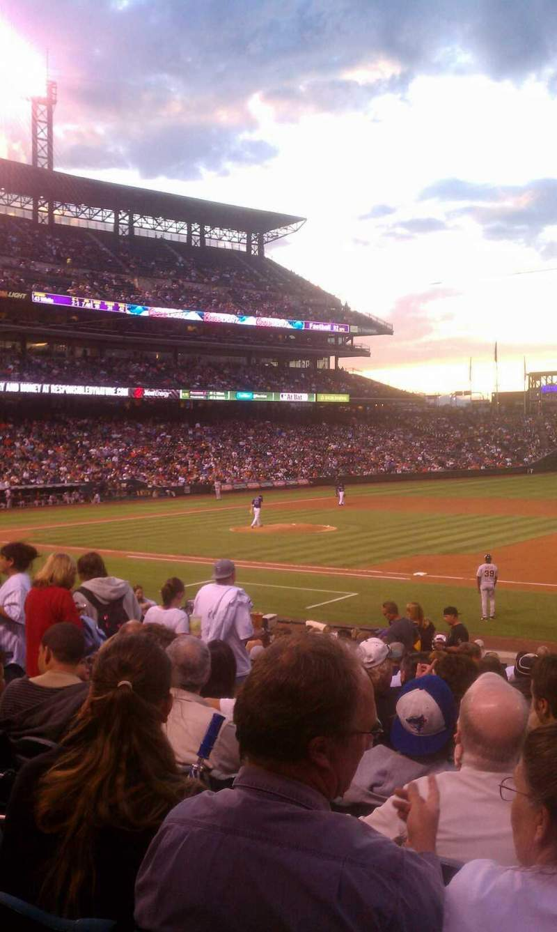 Seating view for Coors Field Section 120 Row 24 Seat 4 and 5