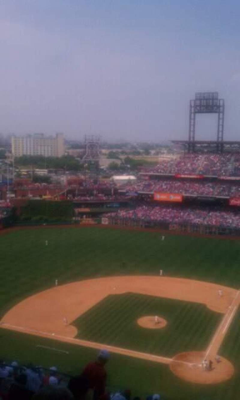 Seating view for Citizens Bank Park Section 423 Row 13 Seat 19